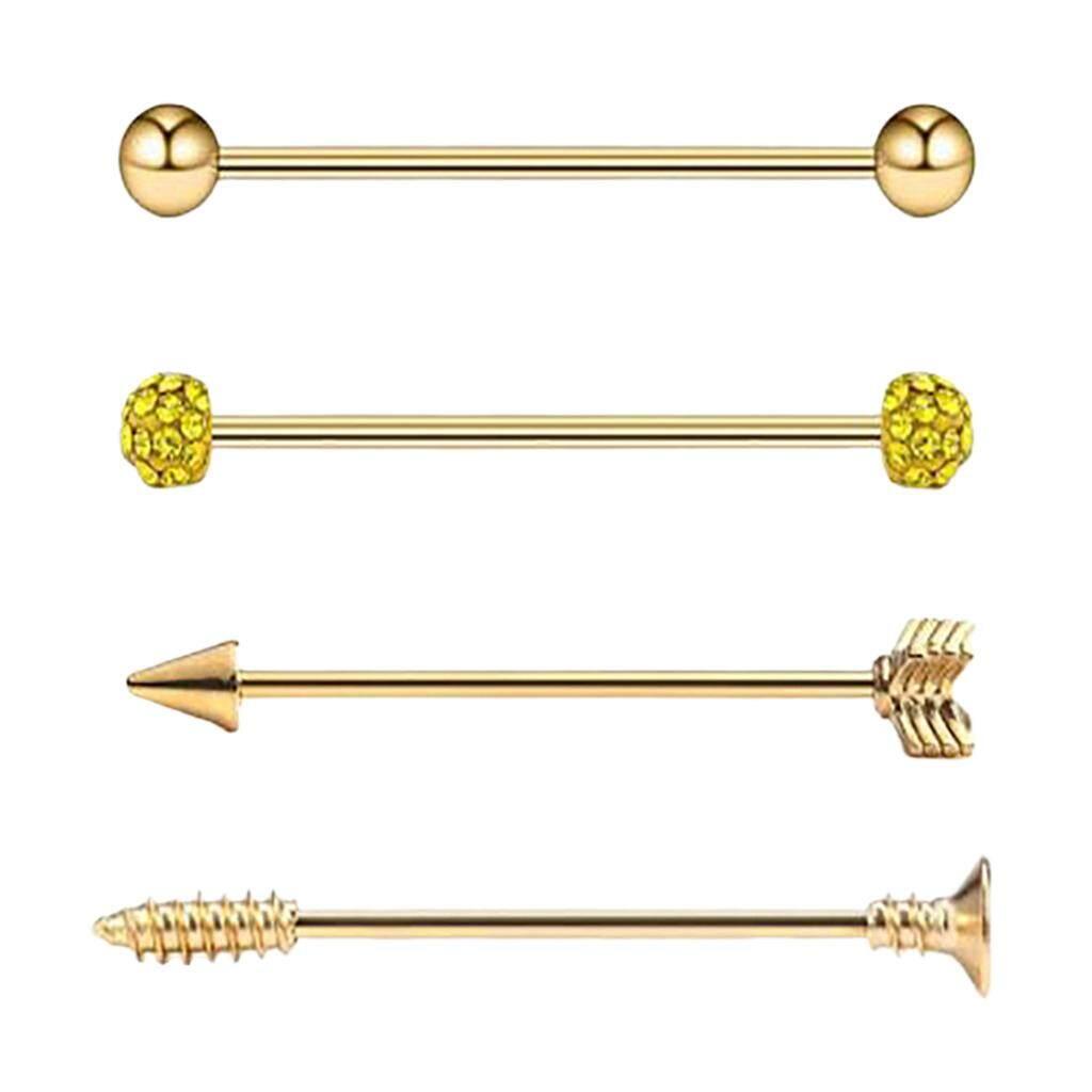 14G Industrial Barbell Earring Tribal Arrow Cartilage 4PCS Hot Piercing Jewelry