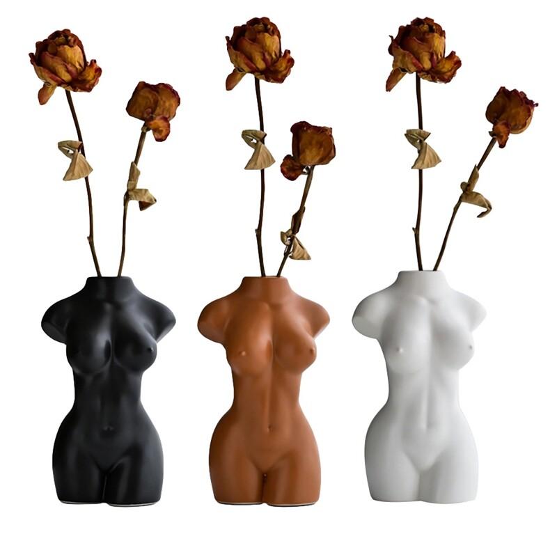Metagio Body Art Design Flower Vase Female Sculpture Flower Vase Creative Hobby Vase Home Decor Lazada Ph