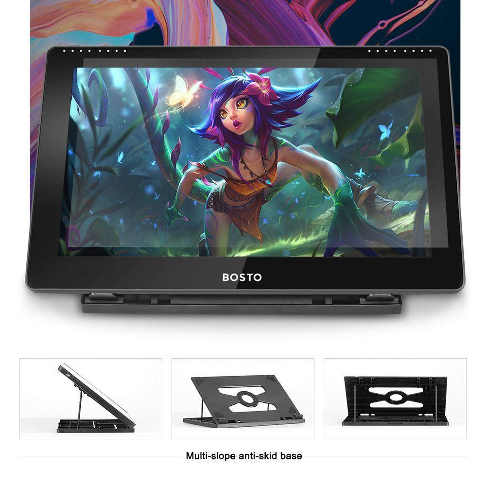 BOSTO15 6 IPS Graphics Drawing Display Monitor 1920 * 1080 High Resolution  8192Pressure Level with Stylus Pen/ 20pcs Pen Nips/ 16GB USB Disk/ Glove/