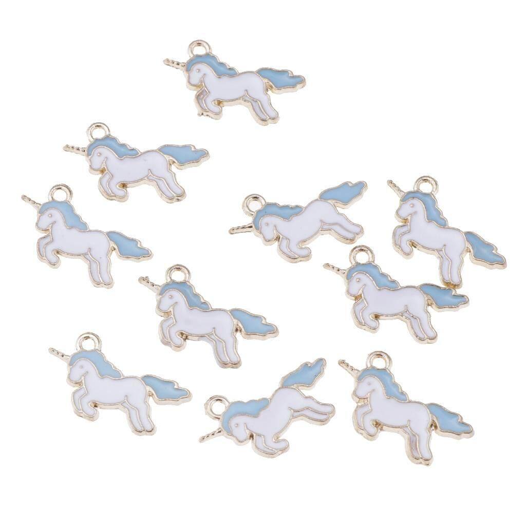 40Pcs Enamel Horse Unicorn Pendant Charm for Earring Bracelet Jewelry Making