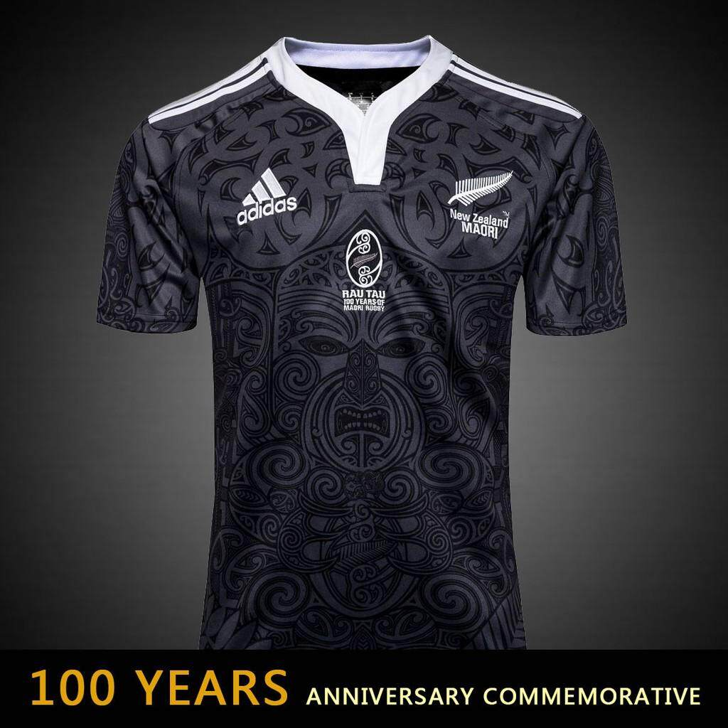 867128e8907 Product details of New Zealand Maori All Blacks Jersey 100 Year Anniversary  Commemorative Edition Rugby Jersey