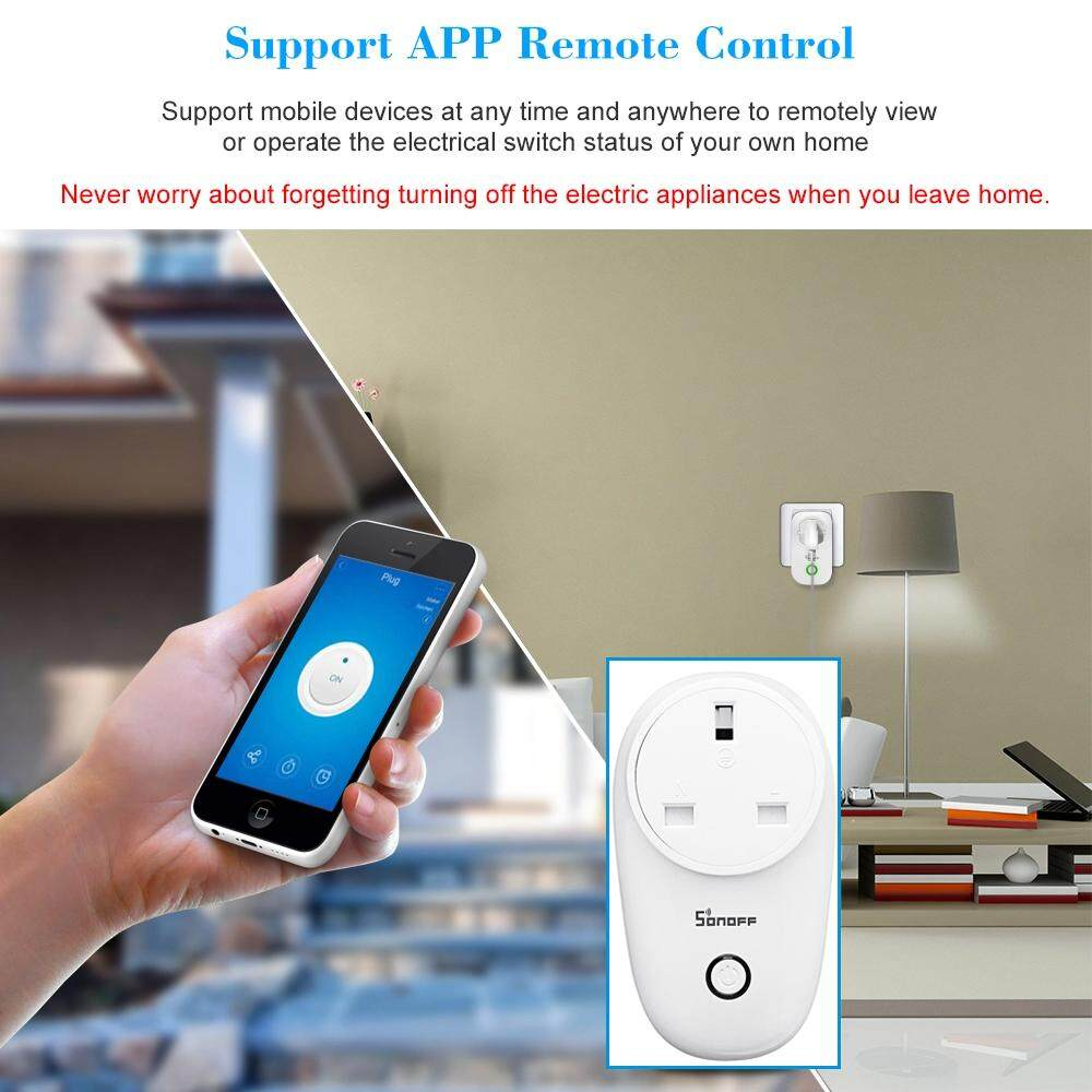 SONOFF S26 ITEAD Wifi Wireless Control Socket Adapter Smart Home M'sia