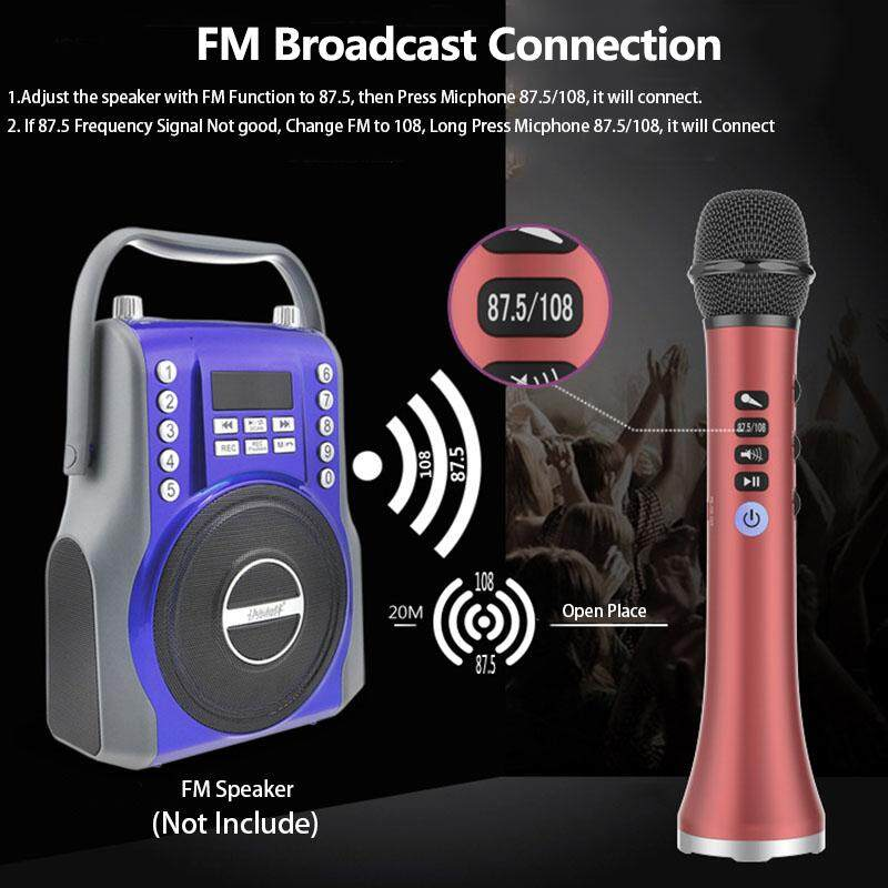 15W Wireless Professional Karaoke Fm Microphone for phone FAMILY KTV  bluetooth Portable mini Mic Music Singing Playing Speaker