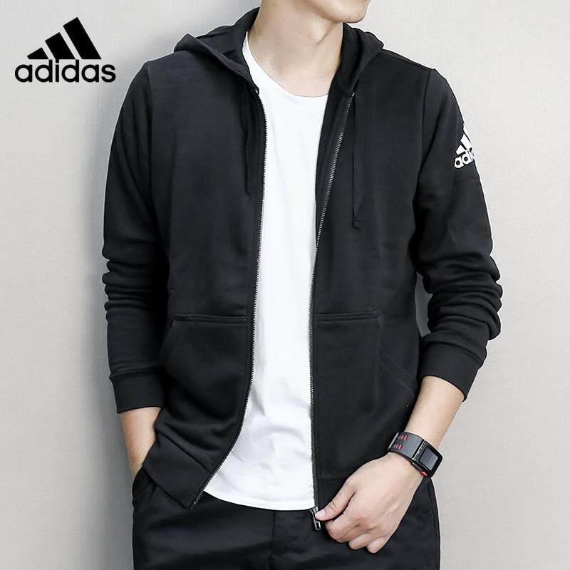 gravedad Limpia la habitación Críticamente  Adidas jacket male 2019 new sportswear knitted hooded jacket BK3717   Lazada