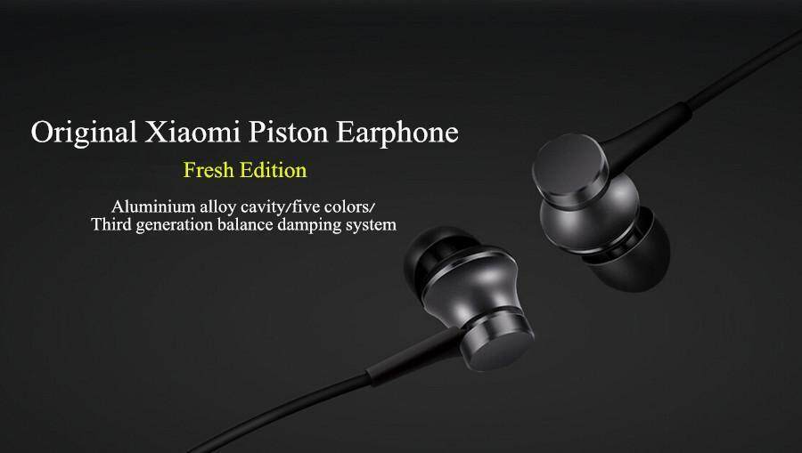Original Xiaomi Piston Fresh Edition Wired Control Earphone Headphone With Mic