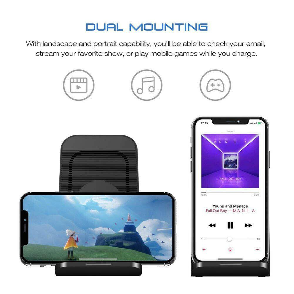 FC For Samsung Galaxy S10 Plus/e Fan Qi Wireless Charger Dock Fast Charging  Stand
