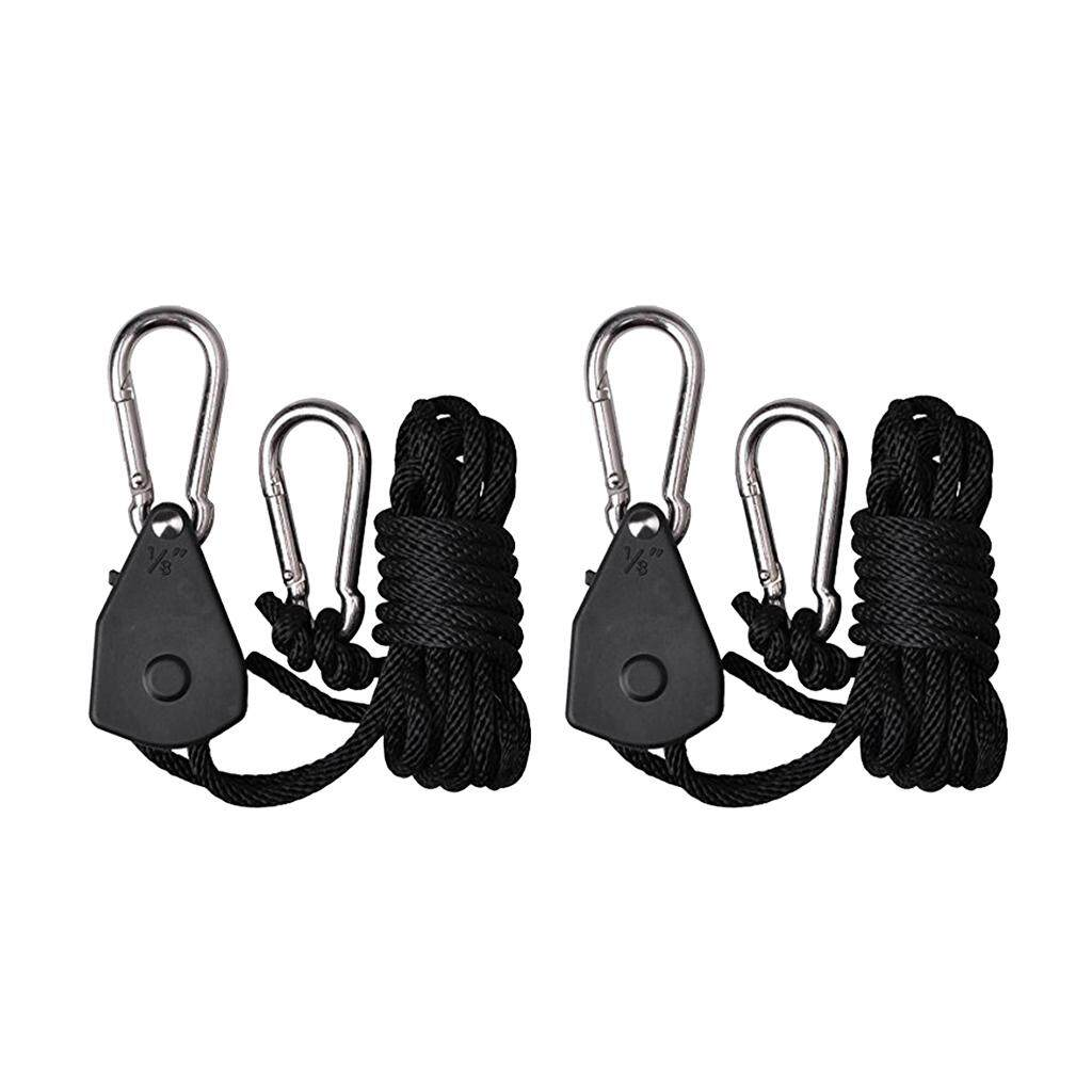 """2PC 1//8/"""" Rope Ratchet Hanger For LED Grow Light Fan Carbon Filter Hydroponic WT"""