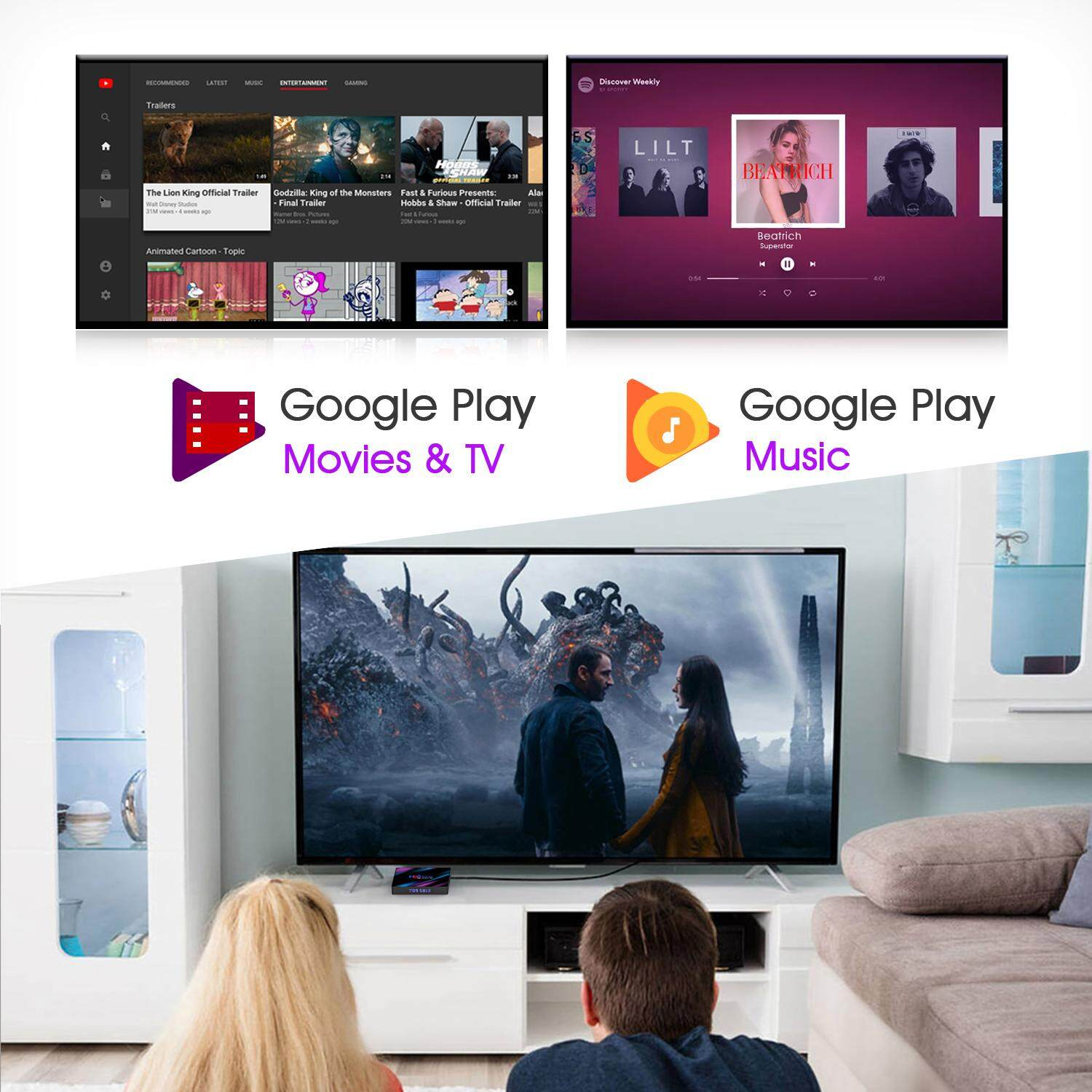[MidYearPre-order] New H96 MAX TV Box (Preintall 10k Channels/Movies) 4GB  64GB Android 9 0 RK3318 2 4G+5G WiFi Bluetooth 4K 1080P PULIERDE Smart