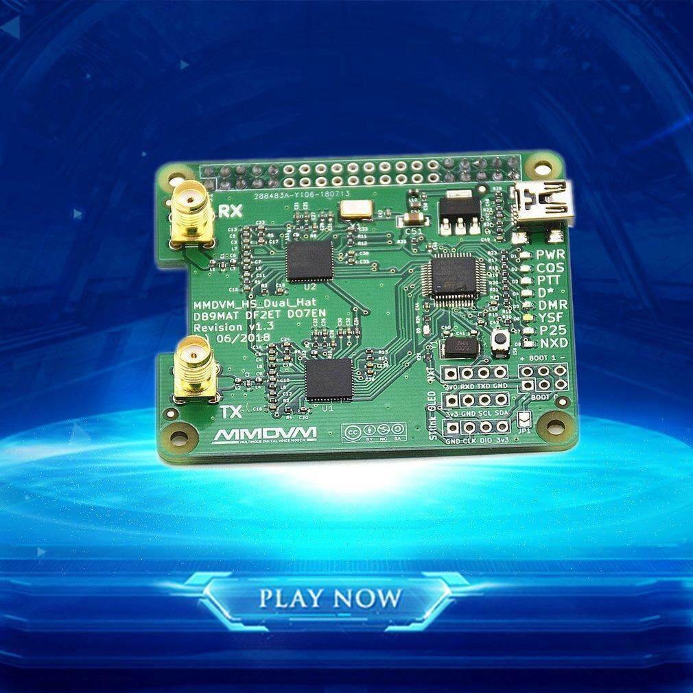 Duplex MMDVM Jumbospot Hotspot Support P25 DMR For Raspberry Pi + 2 Antenna