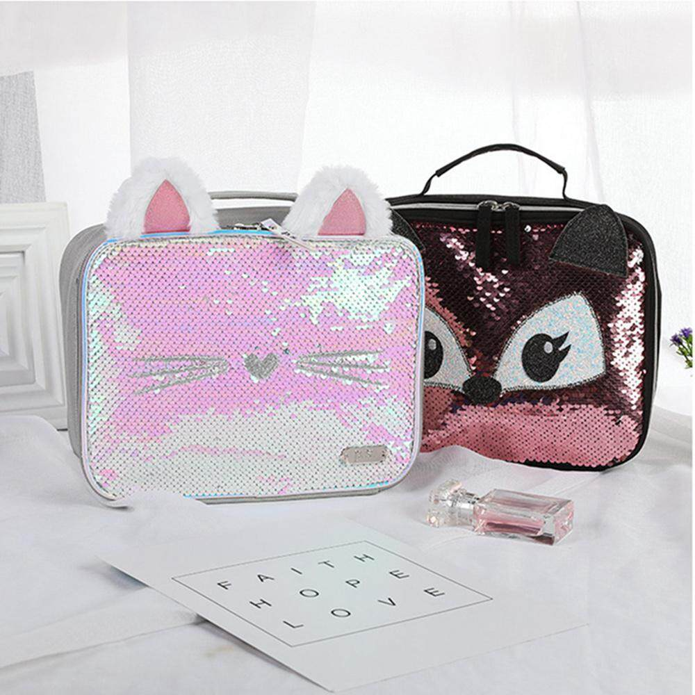 8b2204df8dba OnLook Lunch Bags, Mingdou Insulated Lunch Box For Girl and Women Lunch  Cooler Tote, Reversible Sequin Flip Color Change Fashion Lunch Tote