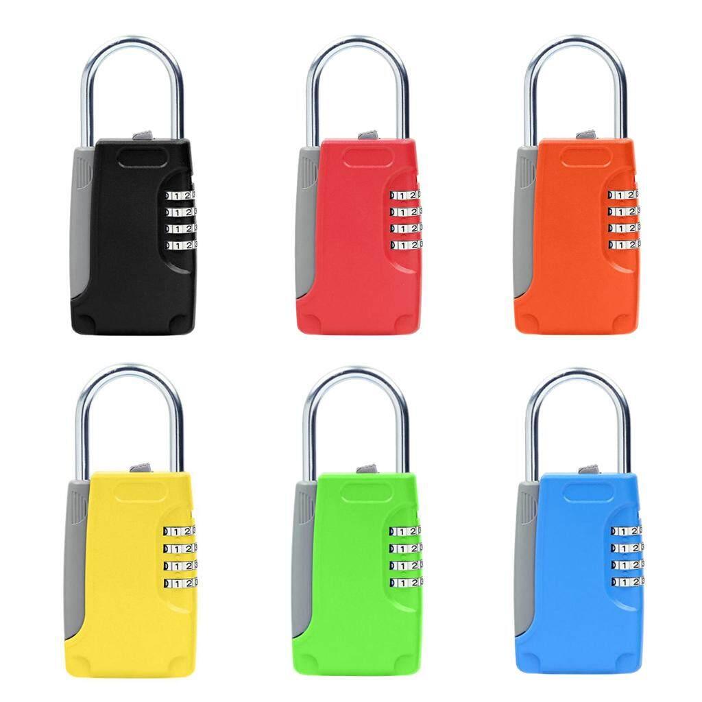 c722345586e0 Blesiya Firm Metal 4 Digit Code Password Lock Combination Padlock Key Box  Suitcase