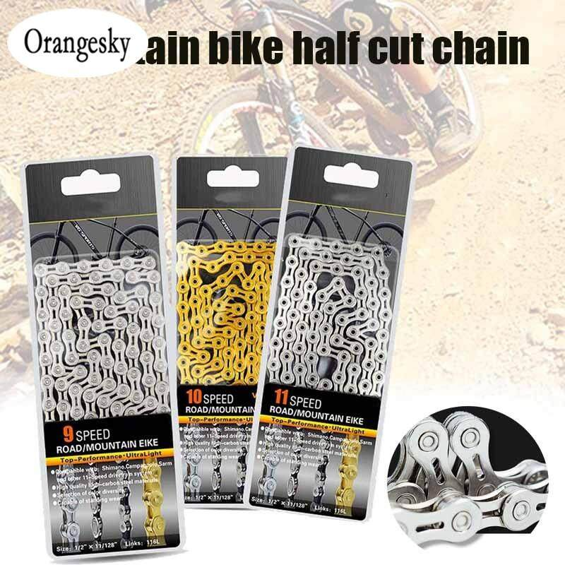 MTB Mountain Bike Chain 9S//10S//11S Speed Hollow Road Bicycle Chains 116 Link