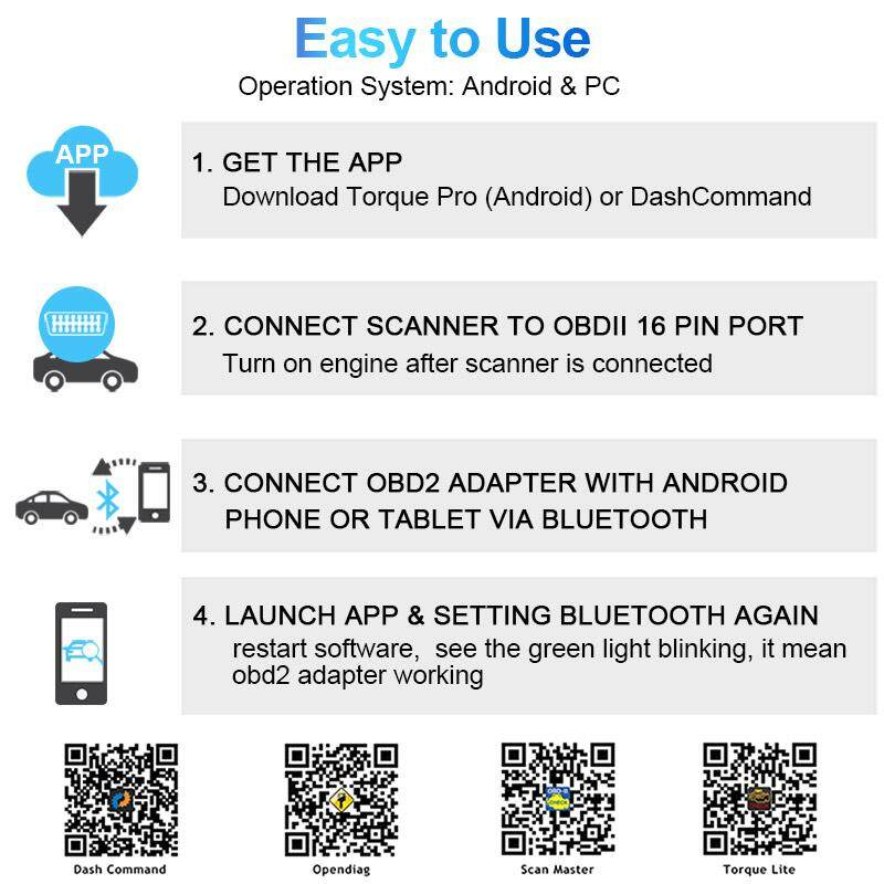 Ancel Elm327 V1 5 Bluetooth OBD2 Scanner for Android Torque Engine Code  Reader Ancel Official Authentic OBDII Adaptor Auto Scanner Car Diagnostic  Tool