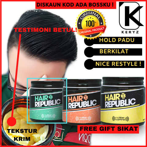hair styling original rubber pomade hair republic vanilla smoky scent high hold unorthodox waterbased produk minyak gaya rambut lelaki men amp 39 s grooming lazada hair styling original rubber pomade hair republic vanilla smoky scent high hold unorthodox waterbased produk minyak gaya rambut lelaki men s