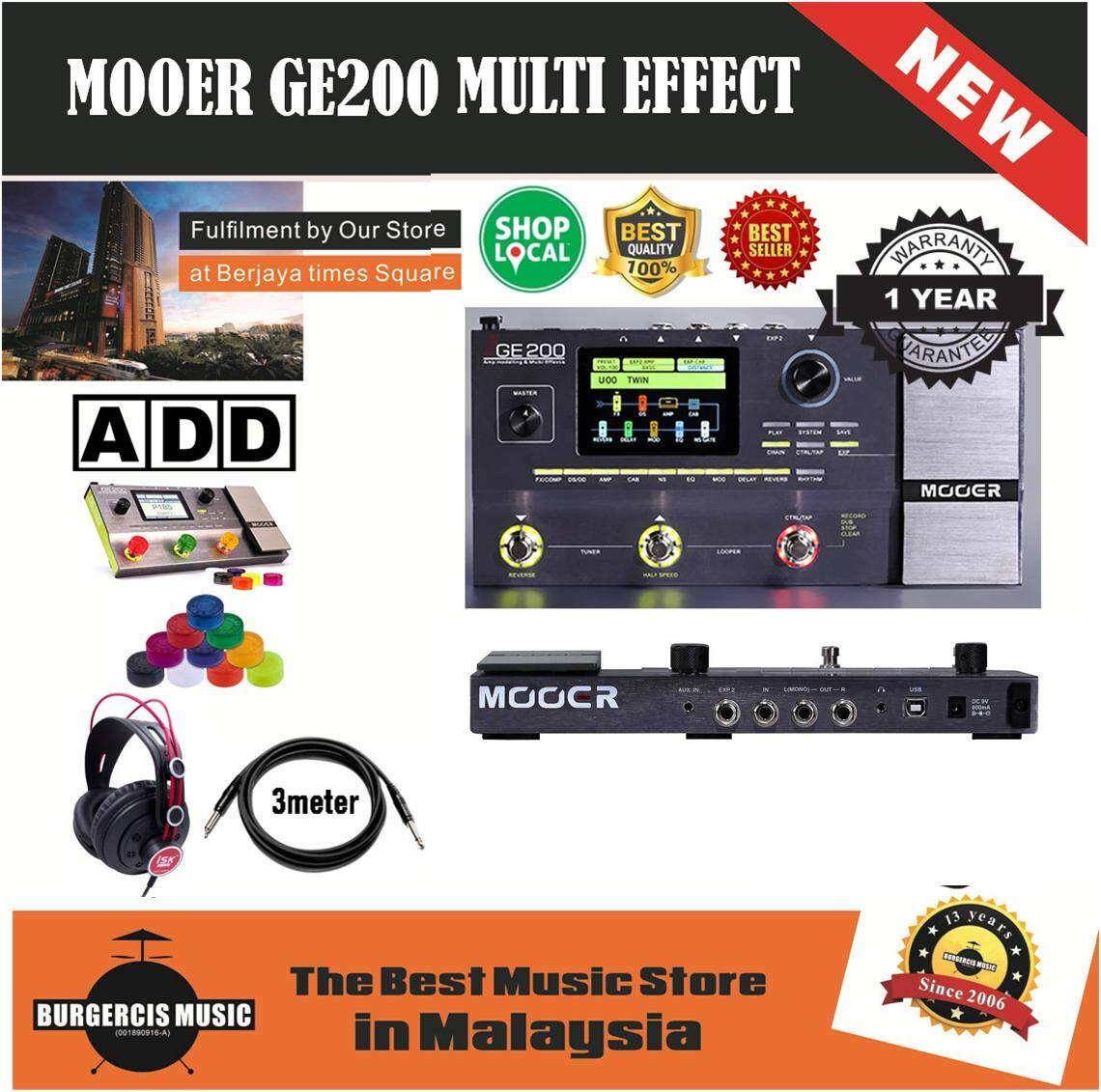 Mooer GE200 Amp Modelling Multi Effects Guitar Effect Pedal 26 built-in  speaker cab models + support for 3rd party IR cab models + Compressors +