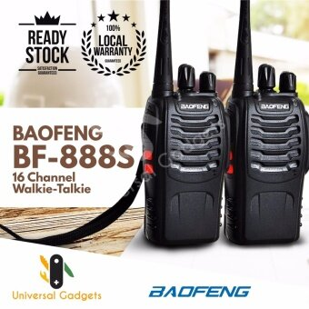 1 Pair (2 Units) BaoFeng BF-888S 16 Channel Walkie Talkie Set UHF 5W