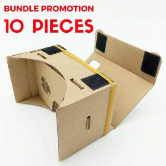 10 Pcs of GOOGLE VR DIY Cardboard 3D Glasses for Android & iOSMobile Phone Virtual Reality Kit (Beige)