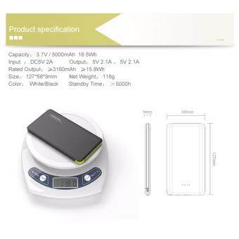 100% Original Pineng Power Bank PN-951 10000mah New Design Shake onpower (White) - 3