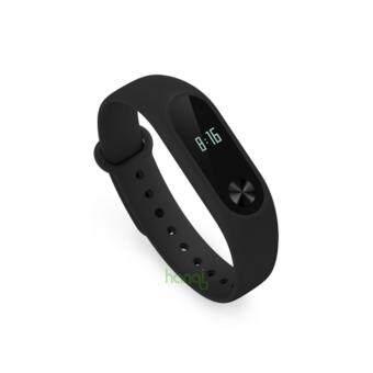 100% Original Xiaomi mi band 2 Strap Belt Silicone ColorfulWristband for Mi Band 2 Smart Bracelet for Xiaomi Band 2Accessories - Black