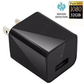 1080P HD Spy camera hidden Camera Real Wall AC Plug Charger +32 GBMemory+Hidden mini spy USB Camera +Video Loop