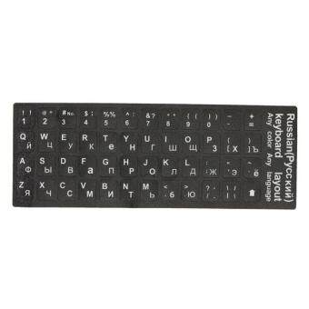 1PC English US Layout Standard Keyboard Non-transparent Stickers Letters 3-Color Malaysia