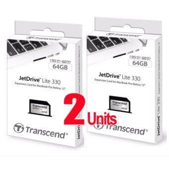 "2 Units Transcend Jet Drive Lite 330 (Memory Card) 64GB for MacbookPro Retina 13\"""