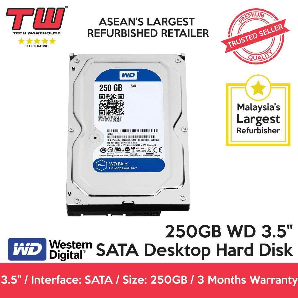 250gb Western Digital Wd 35 Sata Desktop Hard Disk Factory Hdd Harddisk Internal Blue 1tb 3 7200 Rpm Hardisk 1 Tb Refurbished Months Warranty Malaysia