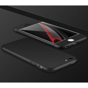 3 in 1 Combo Original GKK Tough Double Dip 360 Full Protection Casefor Apple iphone 6/6S (Black)