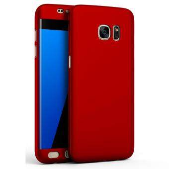 360 Degree Full Body Protection Cover Case for Samsung Galaxy S7Edge (Red)
