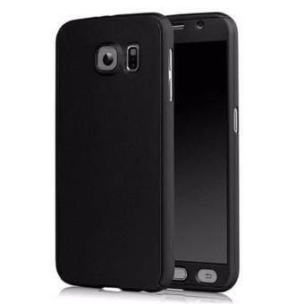 360 Degree Full Body Protection Cover Case With Tempered Glass for Samsung Galaxy A7 2017 (Black)