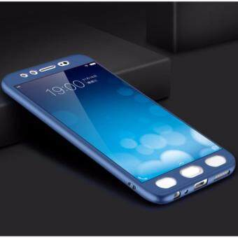 Harga 360 Degree Full Body Protection Cover Case With Tempered Glass for VIVO V5 / V5s / Y66 (Blue)