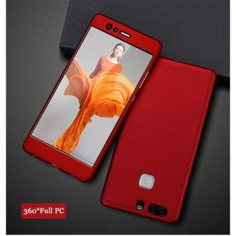 360 Degree Full Body Protection Cover Case With Tempered Glass forHuawei P9 (Red)