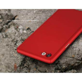 360 Degree Full Body Protection Cover Case With Tempered Glass forOppo F1S A59 (Red)