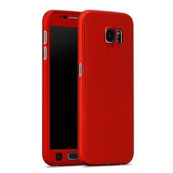 360 Degree Full Body Protection Cover Case With Tempered Glass forSamsung Galaxy A7 2016 (Red)