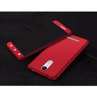 Harga 360 Degree Full Body Protection Cover Case With Tempered Glass forXiaomi Redmi Note3 (Red)