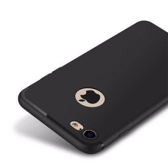360 Ultra thin Back Matte Soft TPU Case For iPhone 7 (Black)