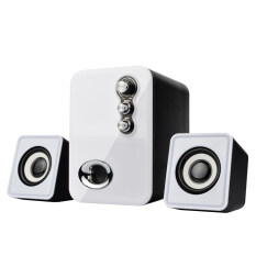 3D Sound 2.1 CH PC Computer Speaker with Dual Subwoofer Laptop Desktop Malaysia