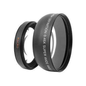 Harga 55mm 0.45x Wide Angle + Macro Conversion Lens For DSLR DC Camera(Black)