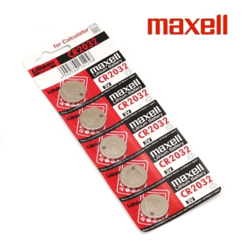 5PCS CR2032 GENUINE Maxell Japan Coin Cell Lithium Battery 3V Malaysia