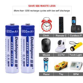 [6 PCS] AA 1.2V Rechargeable Battery Original Doublepow / 1200mAh Double A Rechargeable Battery [3 Months Warranty] Malaysia