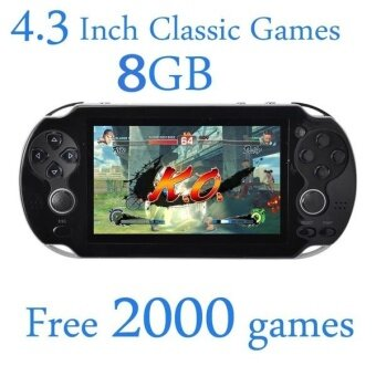 Harga 8GB Video Game Console Free 2000 Games 4.3 Inch MP4 MP5 PlayersHandheld Game Player (White)