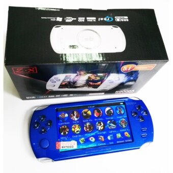 Harga 9000+ Free Games 5 Inch 8G PSP Game Player Handheld GBA ConsolesBig Screen MP3/MP4/MP5/FM/Camera (Blue)