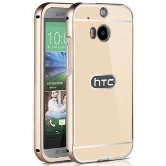 htc one m8 gold case. Acrylic Back Cover And Aluminum Frame Case For HTC One M8 (Gold) Htc Gold M