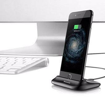 Malaysia Prices AFAITH iPhone Charging Dock , 2.4A Max Lightning Charging DockStation Desktop Docking Charger USB Cable For Lightning Cell PhoneFor iPhone 7/7Plus/6s/6sPlus/6/5/5s (Black) BA011B