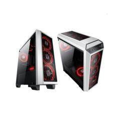Aigo Starship II Side Window Gaming Casing With 3 Units Aigo Eclipse Ring LED Fan (White Case) Malaysia