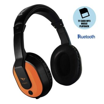 alcatroz airwave 300 wireless bluetooth headset with micro sd card mp3 playing function orange. Black Bedroom Furniture Sets. Home Design Ideas