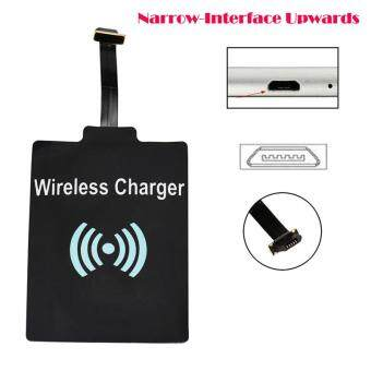 ALEVIN-Universal QI Wireless Charging Receiver Charger Module ForMicro USB Cell Phone Black Black