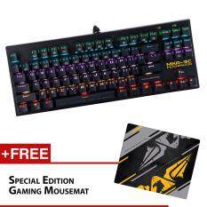 Armaggeddon MKA-3C Multicolor LED Lights Mechanical Gaming Keyboard (Black-Blue Switches) Free Special Edition Mousemat Malaysia
