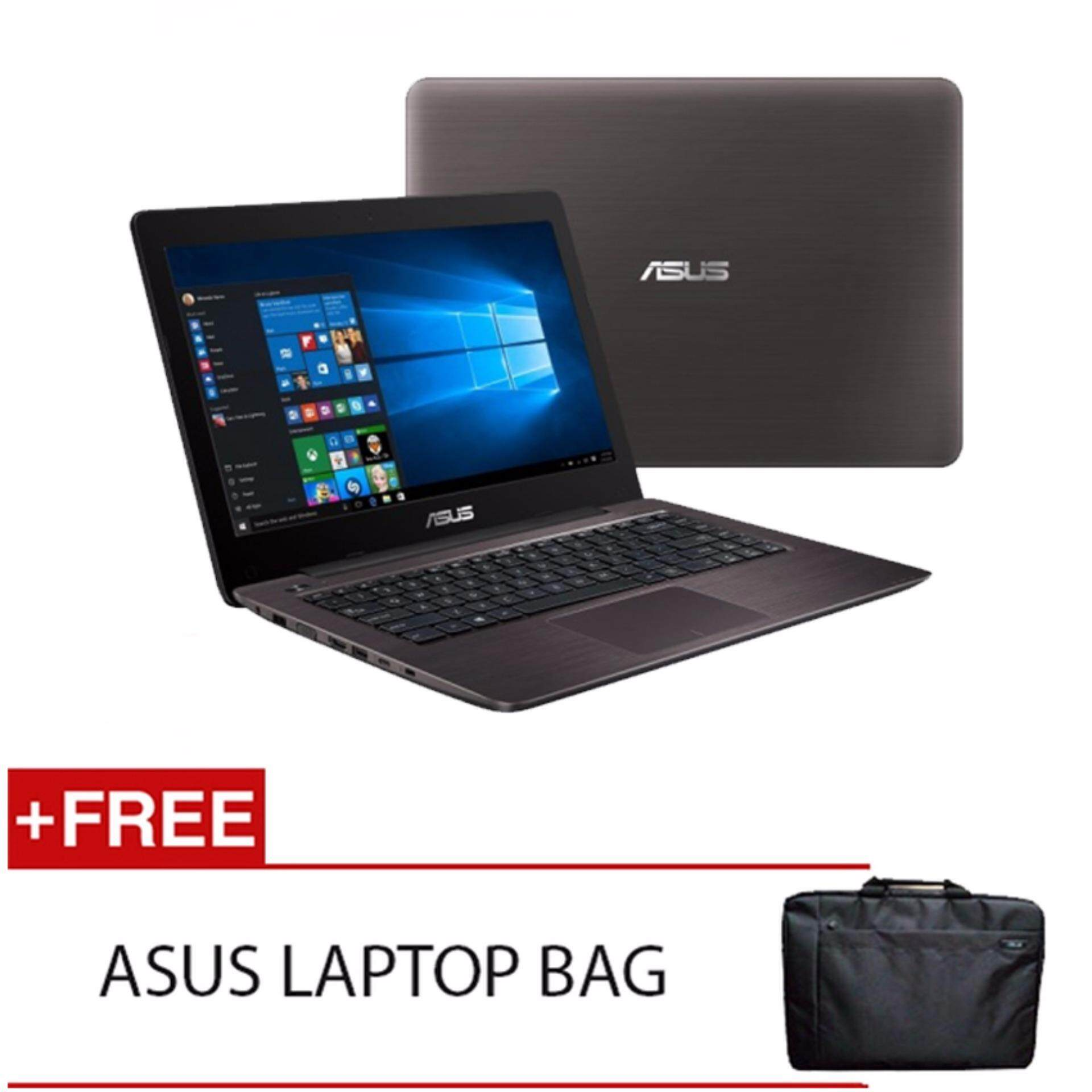 ASUS A456U-RFA131T I5-7200U 4GD4 1TB NV930MX 2GD3 WIN10H (BROWN) FREE ASUS LAPTOP BAG Malaysia