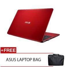 ASUS X541N-AGO282T N3350 4G 500G WIN10 (RED) FREE ASUS LAPTOP BAG Malaysia